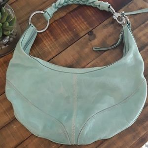 Francesco Biasia Turquoise Leather Hobo Bag